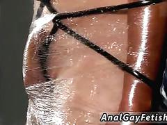 Bondage gay galleries first time cristian is almost swinging wrapped up in string and