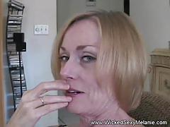 Milf granny cums with a hard orgasm