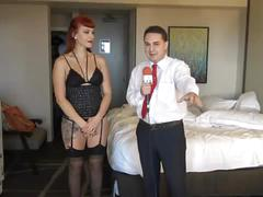 Ballbusting: lady karma destroys the balls of andrea dipre!