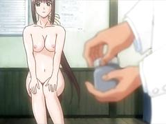 Sexy hentai nurse enjoying erotic massage movie