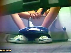 Spycam twink in restroom