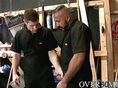 Two sexy hunks alessio and luke having sex in a storage room