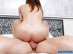 Latin ts jakeline dark sucks off big cock and get barebacked