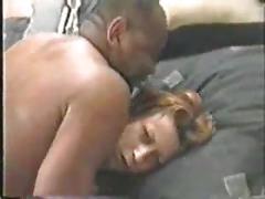 Hot slut takes her black bull home for a fuck