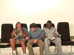 White twink satisfying black men