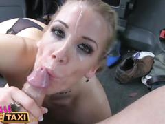 Femalefaketaxi three exciting sessions and cumshots in the back