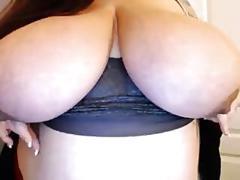 Tattooed bbw milf shows huge tempting tits off solo