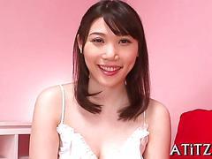 blowjob, busty, japanese, big tits, asian, lingerie, tit fucking