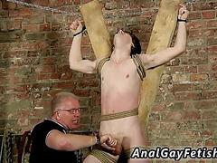 Jerking that cock and the bdsm session is so amazing