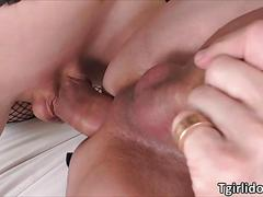 Tgirl nanda enjoys an erotic anal sex