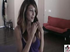 Pov heather vahn comes over for a cleaning job, gets a dick sucking job