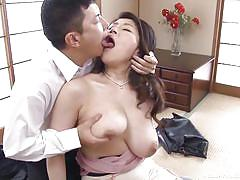Japanese mature with new husband