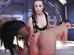 big ass, latex, babe, ebony, interracial, lesbian threesome, anal dildo, lesbian bdsm, lesbian spanking, shrink wrap, everything butt, kink, roxy raye, lisa tiffian, casey calvert
