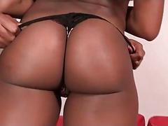 Lesbian ebonies stripping and making out