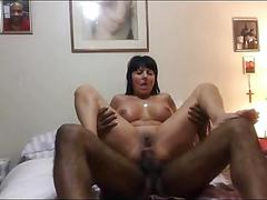 Slutty grandma takes a bbc up her asshole