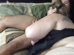 Sexy bbw mandy majestic takes on bbc donald trunk