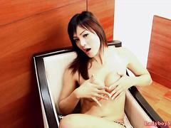 Thai ladyboy aum gets naked