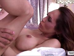 Tranny babe seduces sexy guy and gets drilled hard