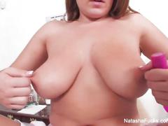 Natasha nice masturbates in the doctor's office