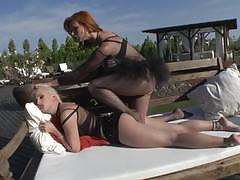 Rear end ramming jessie volt and alexis crystal
