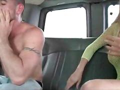 Muscled studs barebacking on the bus floor