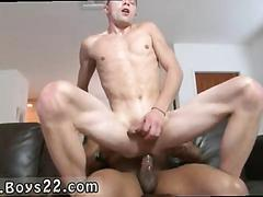 Fit college boy gets his white ass fucked with black dick