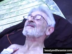 public, small tits, old/young, beautyandthesenior, old, homeless, outside, blowjob, hardcore, outdoor, senior, euro, small-boobs, oral, cum-in-mouth, swallow