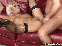 Blonde milf gets her ass slammed