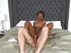 Sexy maid porsche doll rides and sucks hung boss