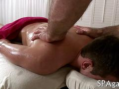 Mature masseur gets his hands on a straightys hard cock