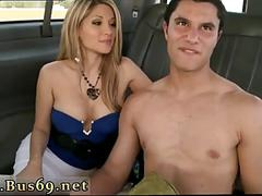 Blindfolded dude thinks a blond babe is sucking him off