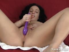 Brunette ava masturbating