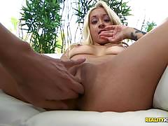 Kinky blonde ivy stone takes a load at the cum fiesta house