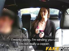 Copper slams mischievous layla on the back seat of his car