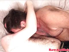 Bearded silver wolf eats cubs hairy asshole