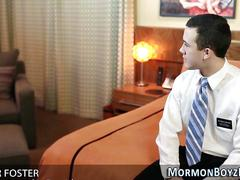 Elder rides mormon bishop