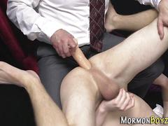 Mormon twink cum covered