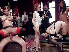 bdsm, babe, orgy, busty, fucking machine, pussy licking, cock riding, sex slaves, rope bondage, the upper floor, kink, nora riley, charlotte cross, seth gamble