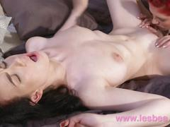 Lesbea young girl with big natural tits eaten