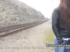Hot busty teen fucked by rails