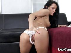 Stunning czech bombshell lexi dona masturbates and comes