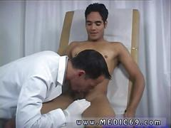 Jerking the fella off so the examination gets physical
