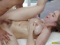Sliding into oiled up beauty lena paul