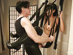 Demonstrating uses for the sex swing