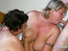Chubby wives have private lesbian fun