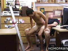 Petite latino dude pulled huge cock and gets ass fucked from behind