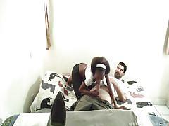 Ebony babe wants a big white dick