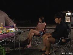 babe, japanese, blowjob, busty, fingering, censored, tent, outdoors, pussy eating, outdoor jp, all japanese pass, kanno sayuki