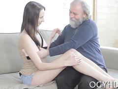 Lustful old guy fucks angel clip feature 1