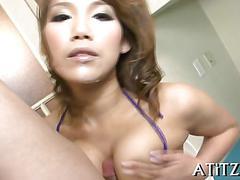 Big boobs japaneses wild blowjob clip